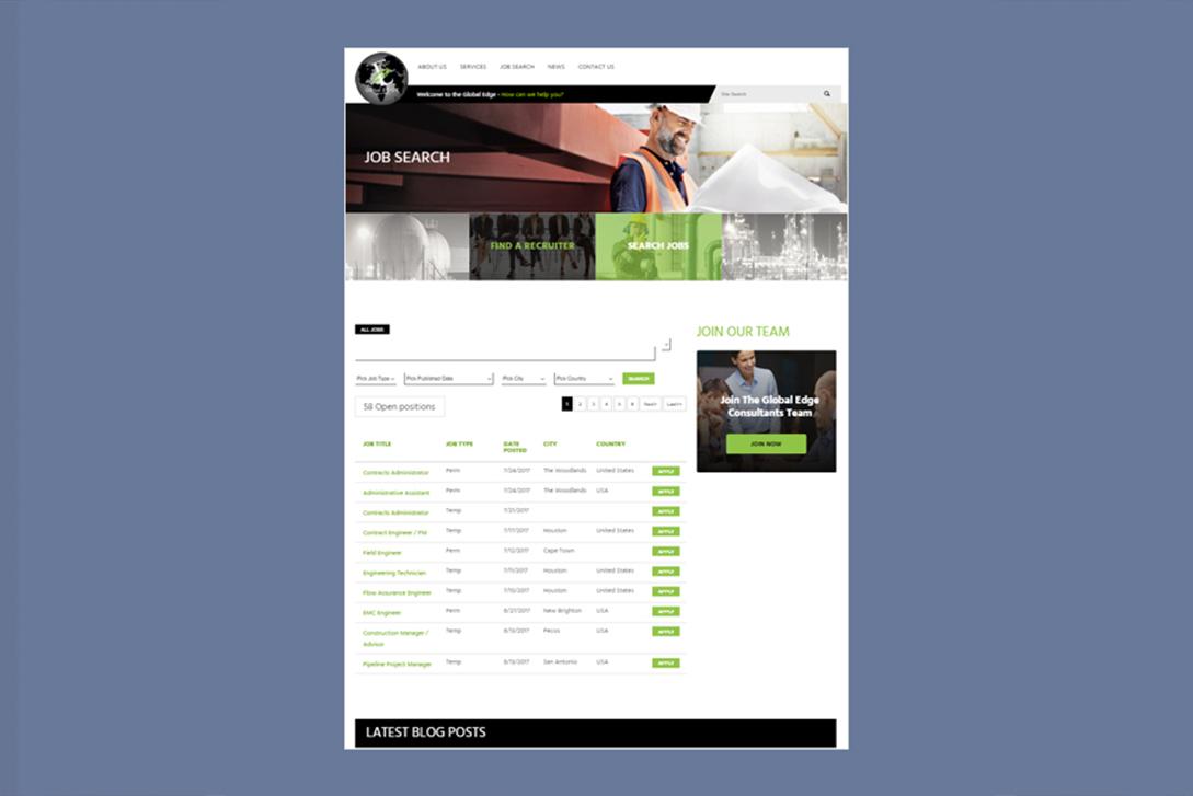 The Global Edge Consultants - Full Web Design