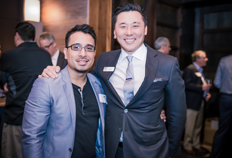 Eric Duenas and Dave Lee of 100 Men Houston Who Give A Damn