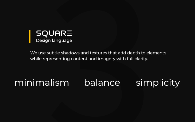 Square design language
